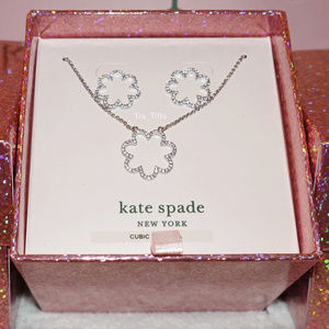 Kate Spade Scallop Necklace and Earrings set